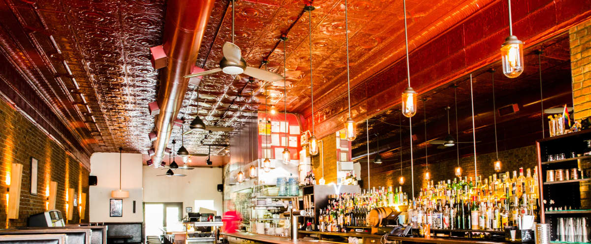 Spacious yet cozy Park Slope restaurant/bar with warm lighting in Brooklyn Hero Image in South Slope, Brooklyn, NY