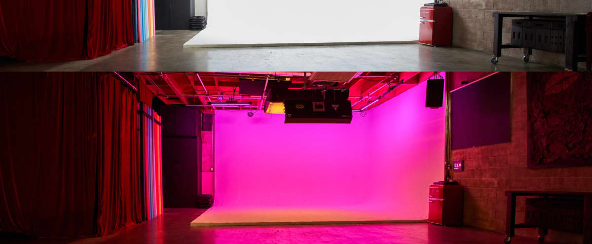 Pre-Lit RGB Cyclorama/Warehouse Studio in Eagle Rock. in Los Angeles Hero Image in Northeast Los Angeles, Los Angeles, CA