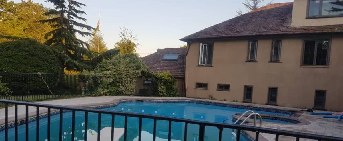 Large Suburban Backyard by the Lake with Pool in Islip Hero Image in undefined, Islip, NY