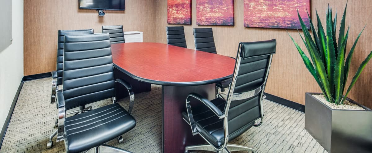 Secluded Conference Room - Video Conference Capabilities - IAH in Houston Hero Image in Greater Greenspoint, Houston, TX