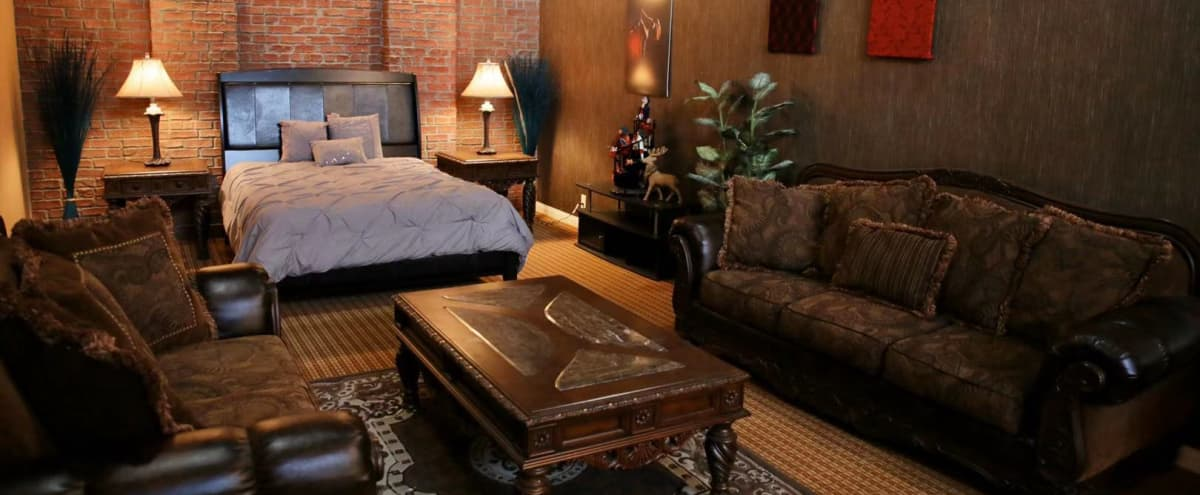 Los Angeles Film Sets Modern Bedroom Set for TV and Film Production Fully Dressed in Los Aneles Hero Image in undefined, Los Aneles, CA