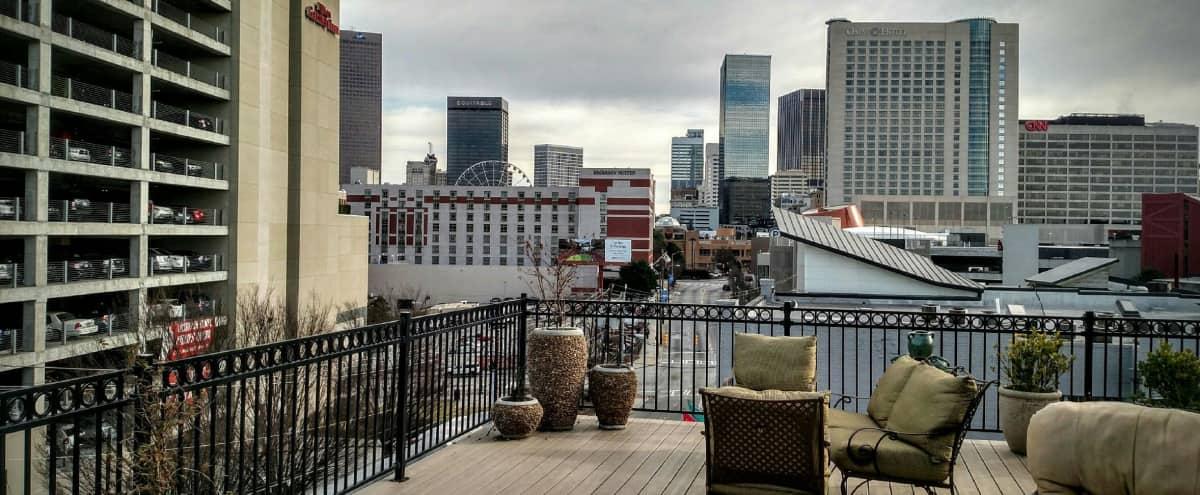 Upscale Downtown Rooftop Terrace in Atlanta Hero Image in Downtown, Atlanta, GA