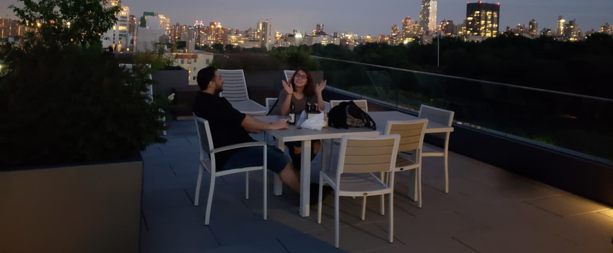 Rooftop with Skyline and Central Park View! in New York Hero Image in South Harlem, New York, NY