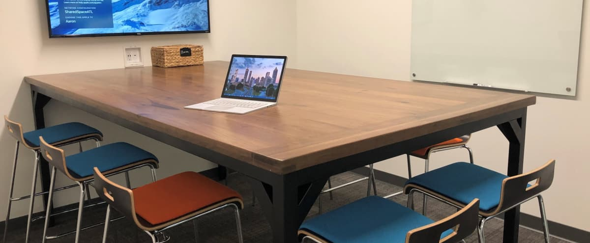 8 Person Meeting Room in Creative Space by The Battery Atlanta (Aaron Room) in Atlanta Hero Image in undefined, Atlanta, GA