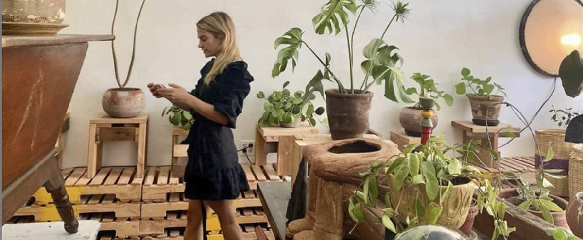 Rustic, wabi sabi dining room and art studio in Los Angeles Hero Image in Fairfax, Los Angeles, CA