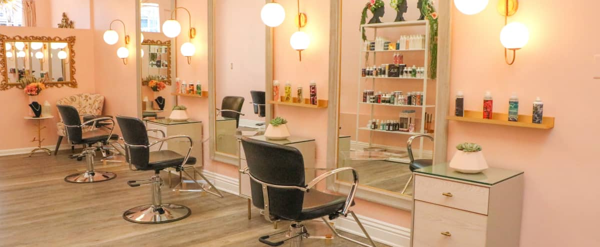 Classic Parisian Style Salon with baby pink walls & luxurious vintage touches in Beverly Hills Hero Image in undefined, Beverly Hills, CA