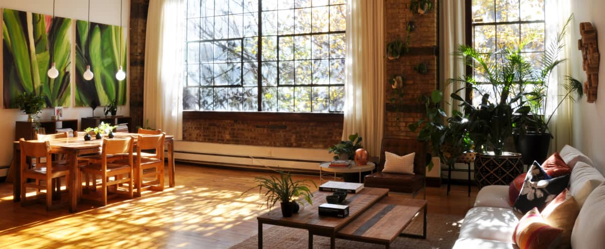 Industrial Brooklyn Loft with Tree-Lined Windows for Small Production in Brooklyn Hero Image in Clinton Hill, Brooklyn, NY