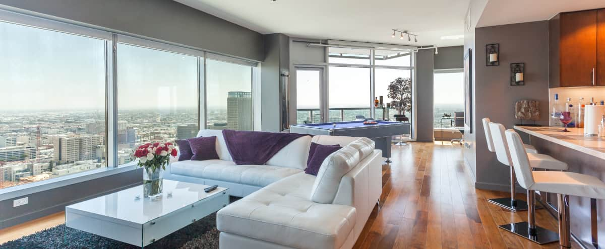Urban DTLA Pool Table Penthouse Suite in Los Angeles Hero Image in South Park, Los Angeles, CA