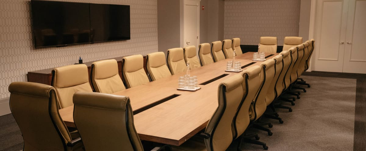 Fully Equipped Executive Boardroom | Available for Filmed Interviews in Seattle Hero Image in Downtown, Seattle, WA