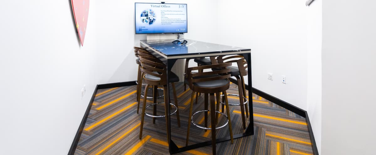 Gorgeous New 7 Person Cafe Style Meeting Room - Prime Location - PROMO in New York Hero Image in Midtown, New York, NY