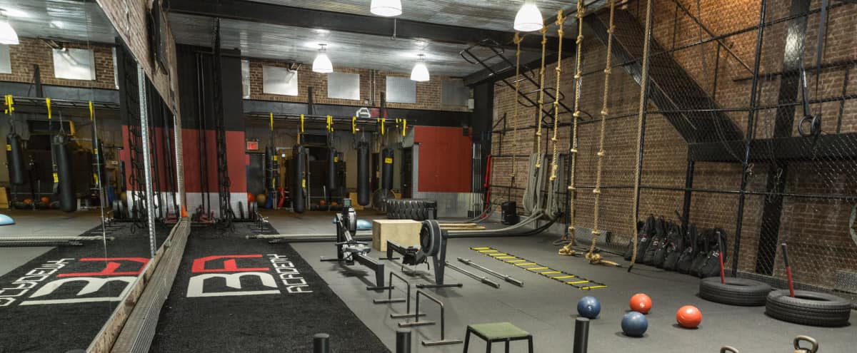 Spacious gym with floors loft studio industrial roomy great