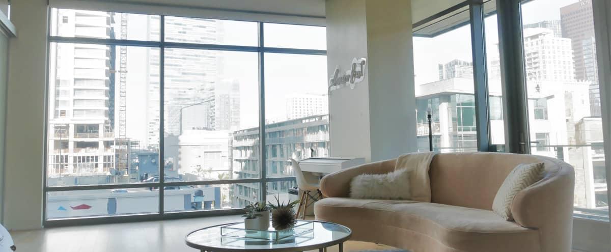 DTLA sunny, spacious open space with kitchen in Los Angeles Hero Image in Central LA, Los Angeles, CA
