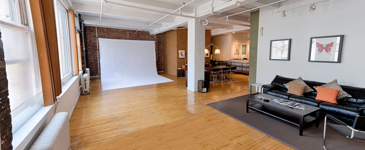 Beautiful 4200 sf NoMad / Chelsea  Photo / Video Studio, 2 Shooting Areas, Exposed Brick, High Ceilings, North Light in New York Hero Image in Midtown Manhattan, New York, NY