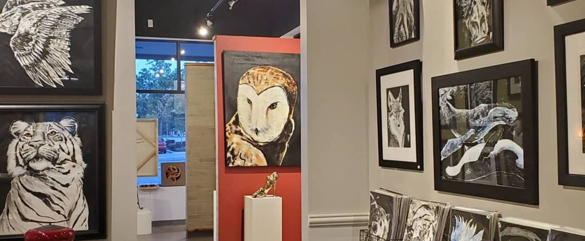 Elegant Art Gallery Event Space in Leawood Hero Image in Camelot Court Shopping Center, Leawood, KS