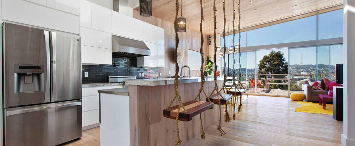 Bright Modern Home With Swings, A Hot Tub, And Views! in San Francisco Hero Image in Potrero Hill, San Francisco, CA