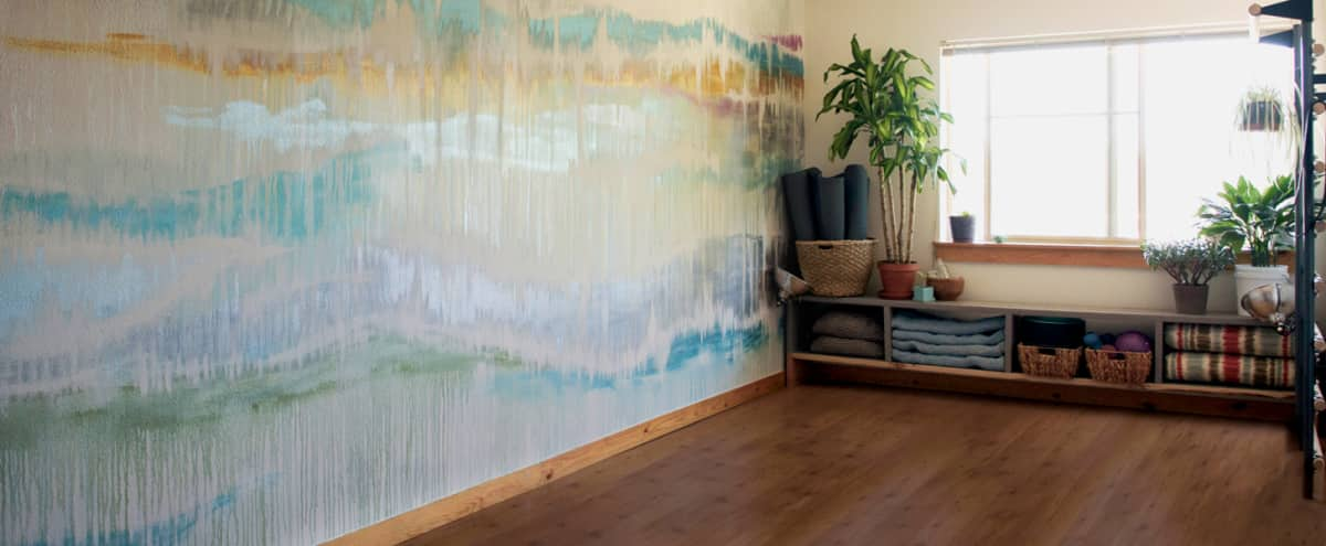 Intimate yoga/fitness studio with dreamy mural in Seattle Hero Image in Fremont, Seattle, WA