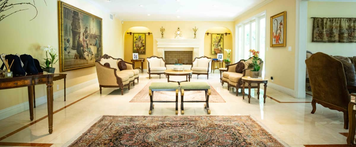 spacious Residential house with floor to ceiling windows with a beautiful private backyard in Trousdale area, Beverly Hills in Beverly Hills Hero Image in Trousdale Estates, Beverly Hills, CA