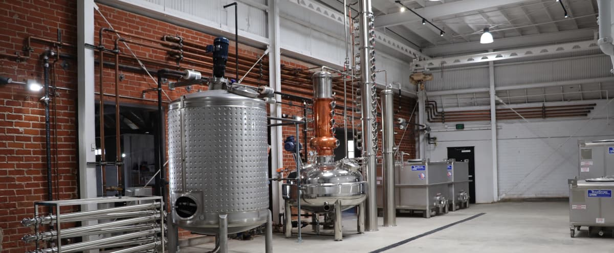 10,000 square foot Distillery and Industrial Vintage Warehouse Space with Contemporary Office zone, 20,000 sq ft private side lot, and creepy basement in the heart of Los Angeles! in Los Angeles Hero Image in South Los Angeles, Los Angeles, CA