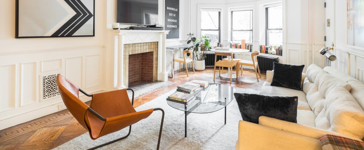 Chic and Sunny Garden Unit with Massive Yard on Best Block in BROOKLYN Hero Image in Crown Heights, BROOKLYN, NY