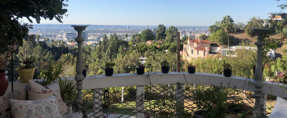 Spectacular Views from 1920's Spanish House in Hollywood Hills in Los Angeles Hero Image in Central LA, Los Angeles, CA