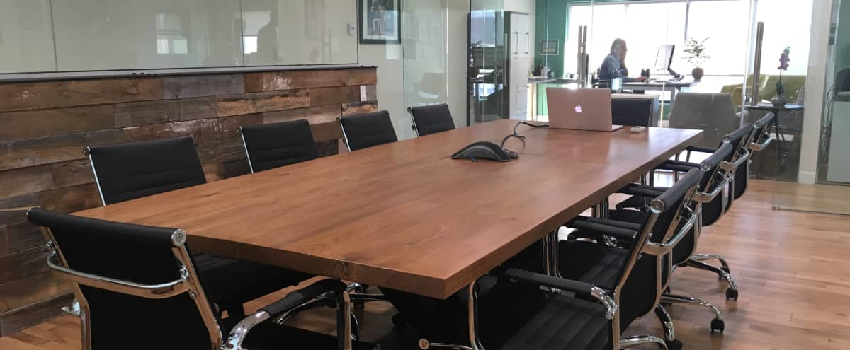 High End Glass Conference Room for 10 in Los Angeles Hero Image in Crenshaw, Los Angeles, CA
