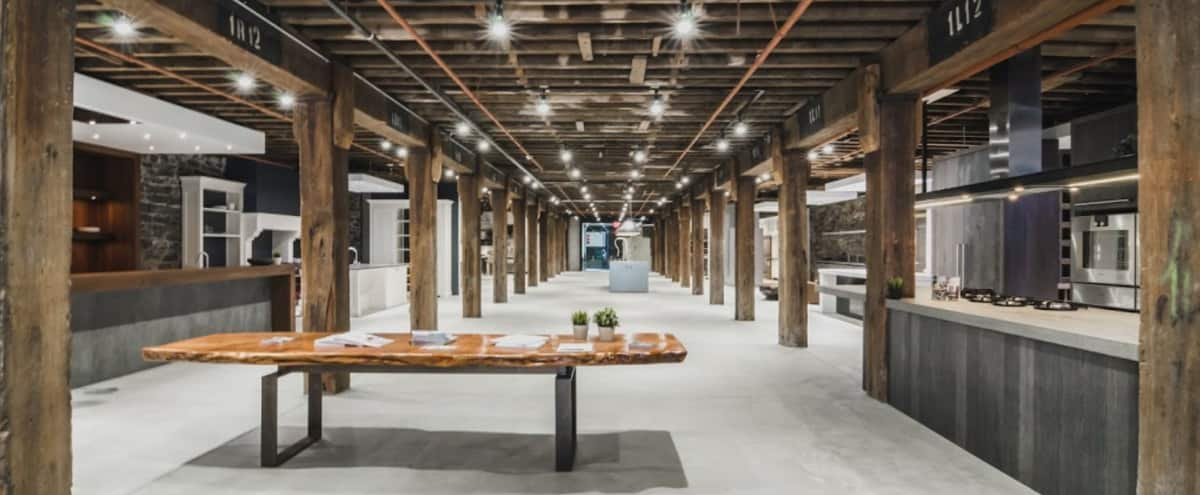 Modern Space with Rustic Wood Beams and Views of the Pier in Brooklyn Hero Image in Red Hook, Brooklyn, NY