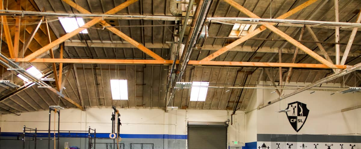 Large Industrial Fitness & Dance Event Space in San Leandro Hero Image in Floresta Gardens - Bradrick, San Leandro, CA