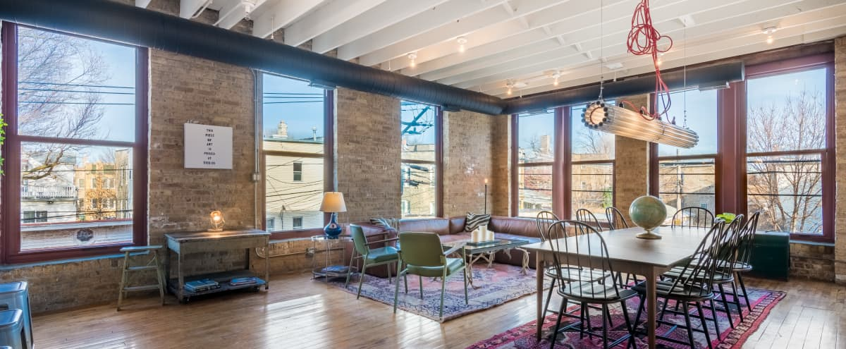 Logan Square Loft With Natural Light (Unit 2) in Chicago Hero Image in Logan Square, Chicago, IL