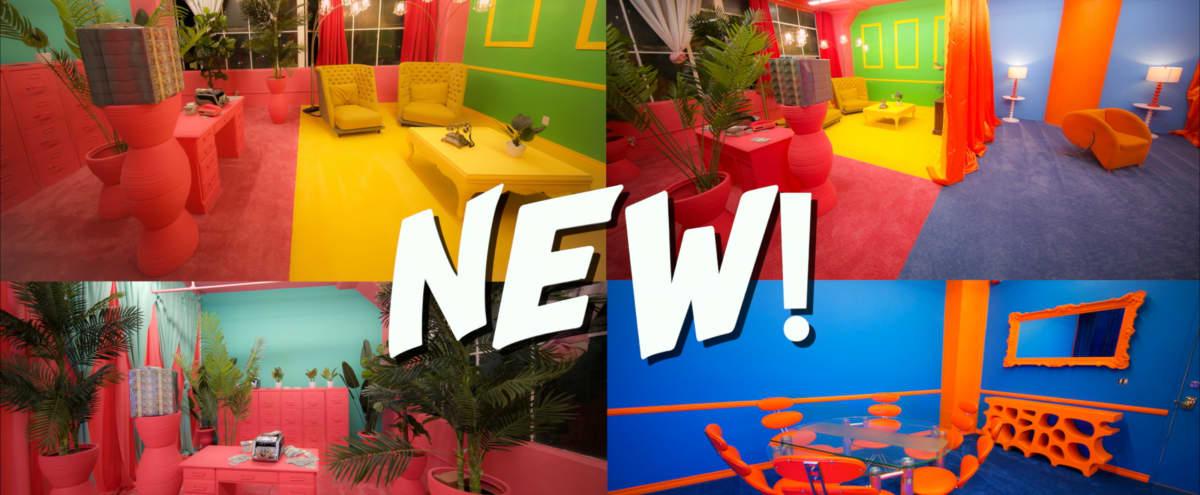 NEW Hotel Colorfornia - DTLA Colorful 6 Set RETRO film studio in Los angeles Hero Image in Central LA, Los angeles, CA