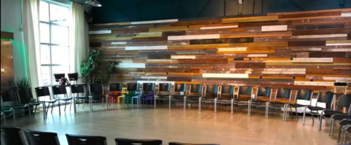 Mix-Use Creative Production Space with Wood Wall, Water Wall and Natural Light in Atlanta Hero Image in Woodland Hills, Atlanta, GA