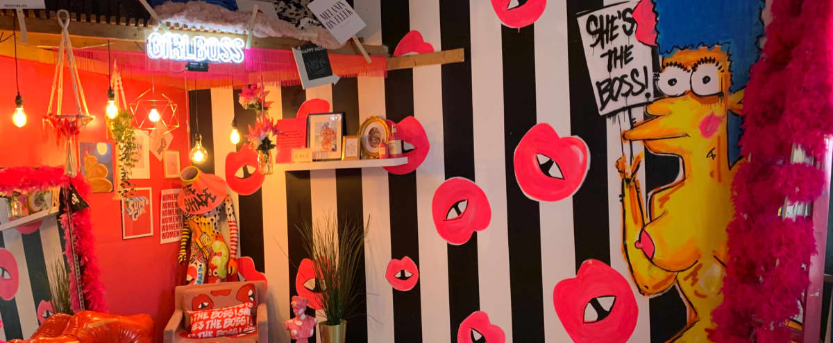 Pink Event space perfect for Photoshoots in Philadelphia Hero Image in East Kensington, Philadelphia, PA
