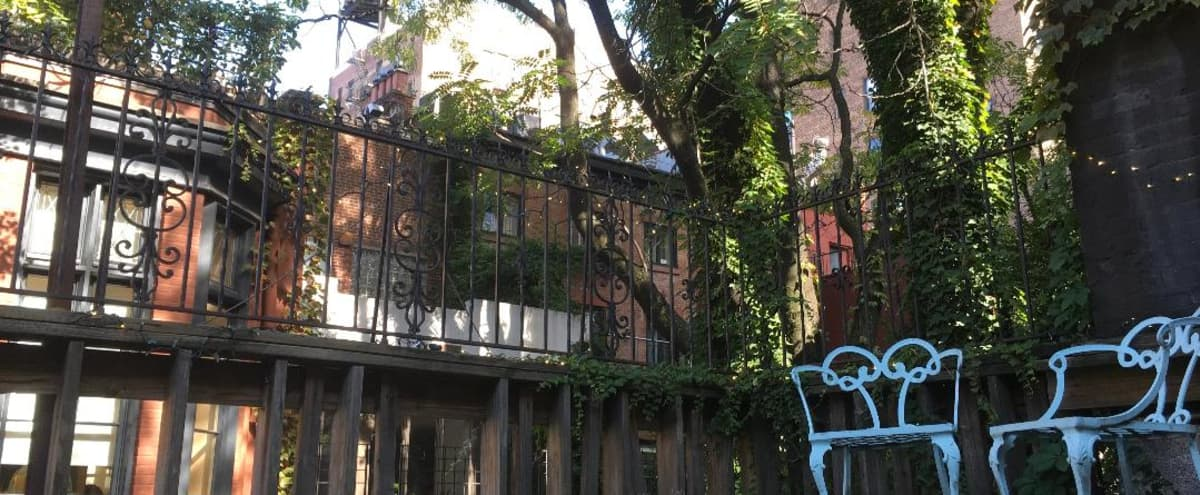 Gorgeous Outdoor Mansion/Museum's Deck in New York Hero Image in Greenwich Village, New York, NY