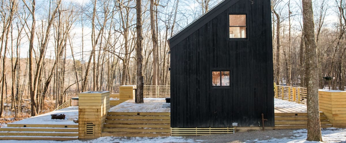 Architectual Cabin in the Woods w/ Floating Bedroom in Rhinebeck Hero Image in undefined, Rhinebeck, NY