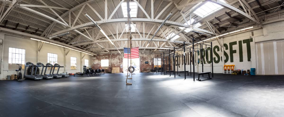 Sophisticated, Rustic Warehouse Gym in Oakland Hero Image in Saint Elizabeth, Oakland, CA