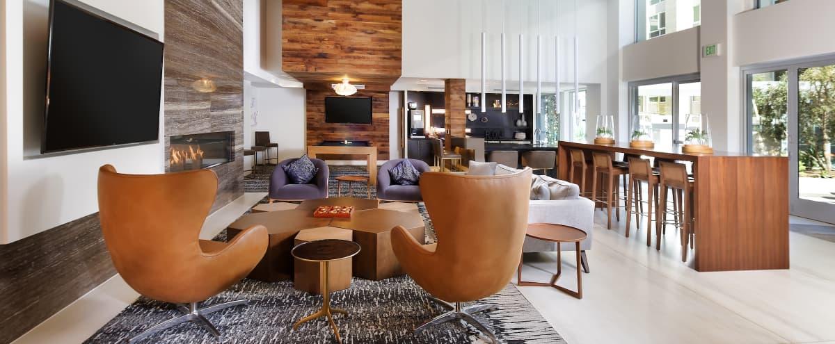 Beautiful indoor/outdoor modern lounge in Irvine Hero Image in Irvine Business Complex, Irvine, CA