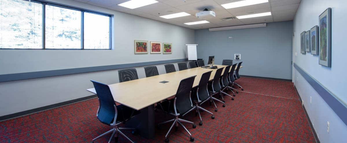 Modern, Fully Equipped 14 Person Boardroom in Hunt Valley Hero Image in Hunt Valley, Hunt Valley, MD
