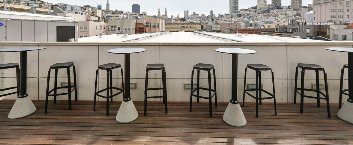Modern rooftop meeting and event space in San Francisco Hero Image in North Beach, San Francisco, CA