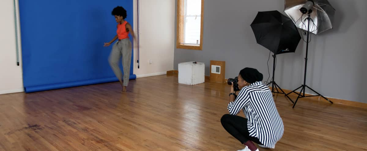 Spacious Well Lit Photography Studio in the South loop in Chicago Hero Image in Pilsen, Chicago, IL