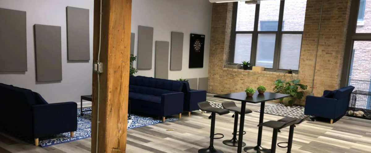 Beautiful fully furnished loft office in Chicago Hero Image in River West, Chicago, IL