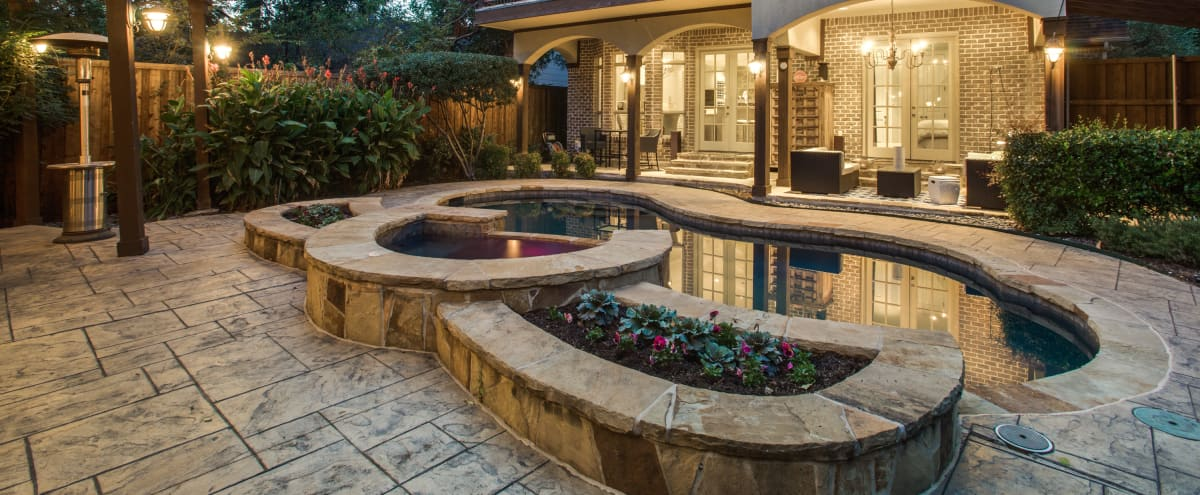 Modern Tudor with Backyard Oasis and Pool in Dallas Hero Image in Greenland Hills, Dallas, TX
