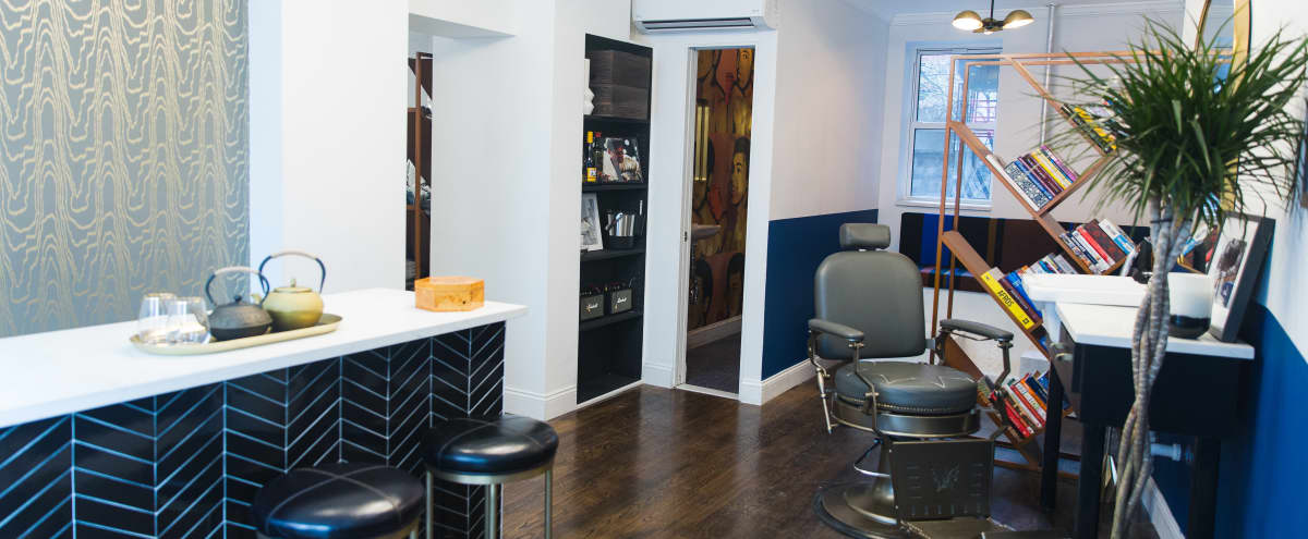 Inspiring Barbershop and Lounge with a Modern/Classic Decor in New York Hero Image in Lower Manhattan, New York, NY