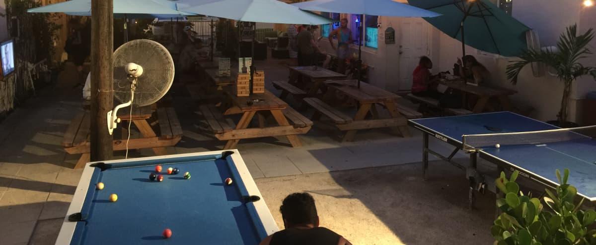 Tropical Beer Garden / Event Venue in South Beach in Miami Beach Hero Image in West Avenue, Miami Beach, FL