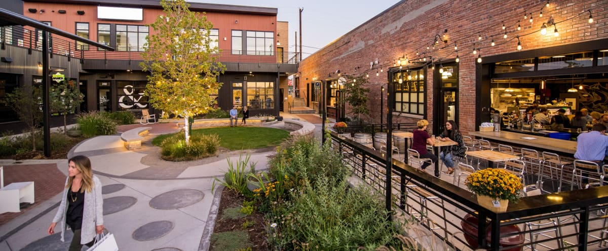 Open Concept Courtyard with Seating in Colorado Hero Image in Five Points, Colorado, CO
