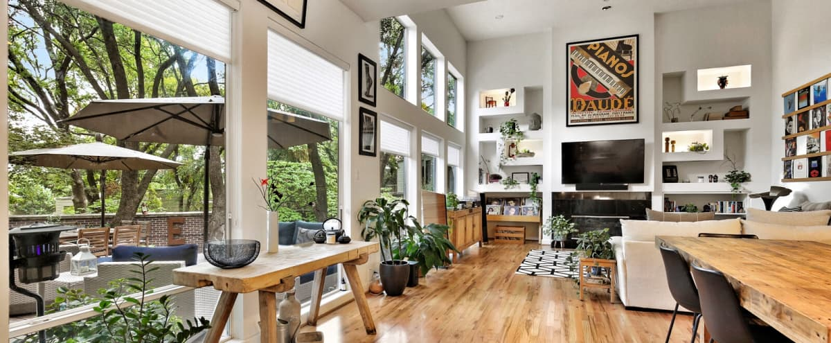 Spacious 2 Story House w/Contemporary & Eclectic Design & Outer Deck in Dallas Hero Image in North Dallas, Dallas, TX