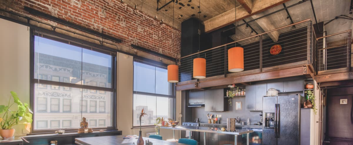 Industrial Downtown loft with Skyline View in los angeles Hero Image in Central LA, los angeles, CA