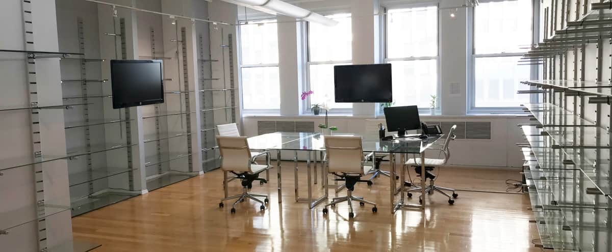 Massive Meeting Space,1800 sq ft space Office Space, Skyline View, Open Concept, Private Offices, Midtown, Garment District, Time Square in New York Hero Image in Midtown, New York, NY