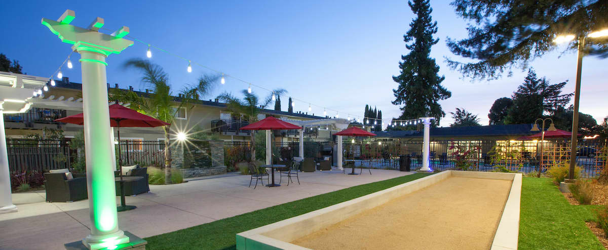 Bocce Ball Court and BBQ Lounge in Sunnyvale Hero Image in Sunnyvale West, Sunnyvale, CA