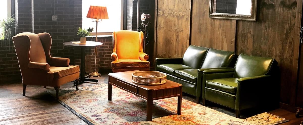 Vintage Meeting Space set in Old Tobacco Factory in st louis Hero Image in Botanical Heights, st louis, MO