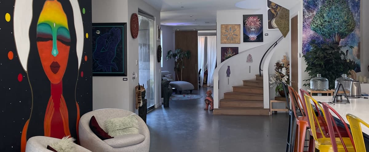 Mystic Manor - Magical Mansion on Venice/Santa Monica border with Large Downstairs Area including Spacious Kitchen, Dining Room, Lounge Areas and Production Studio, Backyard with Pool and Hot Tub in Venice Hero Image in Venice, Venice, CA