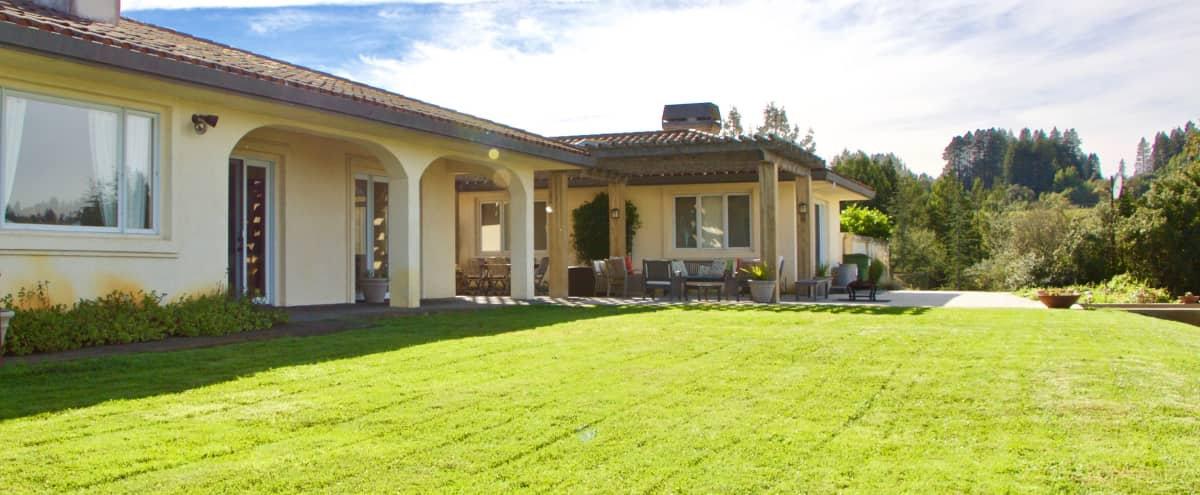 Mediterranean Home with Vineyard Views & Private Lake in Sebastopol Hero Image in undefined, Sebastopol, CA